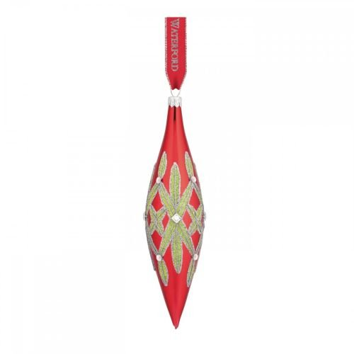 (Waterford 2015 Holiday Heirlooms Nostalgic Lismore 3.5-in Red Spire Ornament)