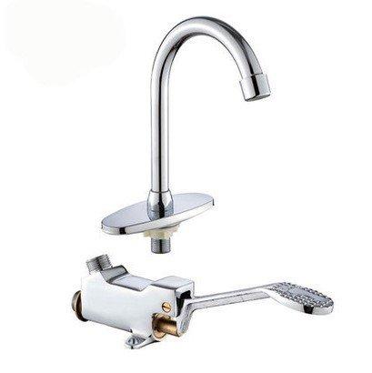 SADASD contemporaneo bagno rubinetto in ottone Full Foot valvola arresto Lab piede Piedi freddi con interruttore acqua bacino rubinetto lavabo in ceramica valvola Core