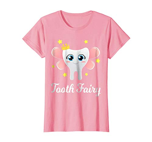 Womens Tooth Fairy Shirt Funny Halloween Costume Gift Dentist Girl Large -