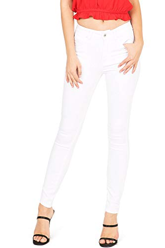 Wax Jeans Women's Juniors High Waist Light Distressing Skinny Jeans (11, - Junior White Ice