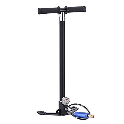 (Vogvigo 4 Stage High Pressure Air Gun Rifle Filling Stirrup Pump 40MPA Hand Pump Built-in Double-Deck Oil and Water Separator 4500 psi (4 Stage))