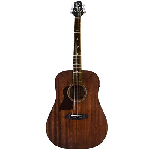 (Sawtooth Mahogany Series Left-Handed Solid Mahogany Top Acoustic-Electric Dreadnought Guitar)