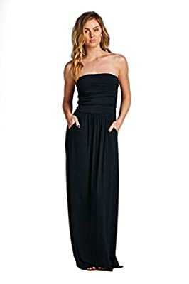 Vanilla Bay Solid Pocket Maxi Dress