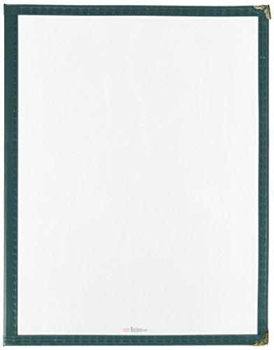 Winco Double Fold Menu Cover, 12-Inch x 9.5-Inch, Green
