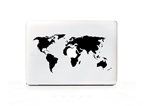 DecalGalleria - Earth World Map Travel Decal Sticker for MacBook, MacBook Pro and MacBook Air 11, 12, 13, 15, 17 inch