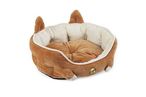 MushroomCat Modern Fluffy Round Small Cat Bed Indoor Brown