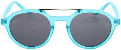 SojoS Retro Round Circle Women Sunglasses with Metal Crossbar
