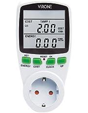 Virone Elektriciteitsmeter voor Stopcontact met LCD Scherm || Maximum Vermogen 3680W