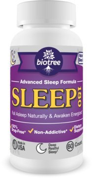 Sleep 180 - Natural & Advanced Sleep Formula supports Falling Asleep Faster, Extra Strength Sleep Aid with Melatonin, Lemon Balm, Passion Flower, Valerian Root, & GABA - 100% Drug Free, Non Addictive