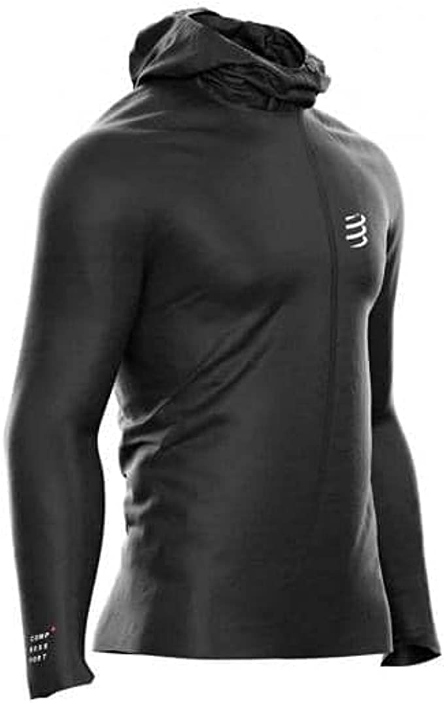 Compressport Homme HURRICANE Imperméable 10//10 Veste Femme Noir Sport Running