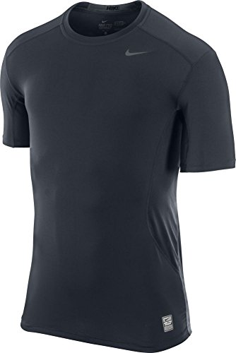 New Nike Men's Pro Combat Core 2.0 Fitted SS T-Shirt Dk Obsidian/Grey Large