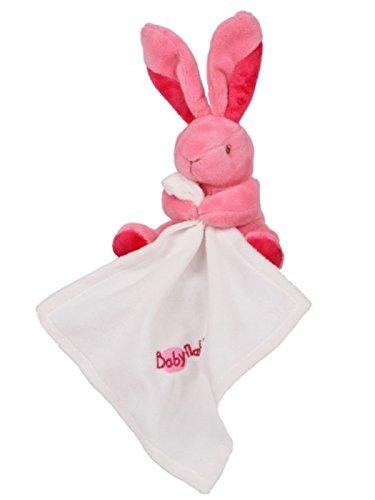 Babynat – Peluches y Doudous – Doudou conejo rosa con pañuelo color blanco – Flashy –