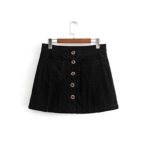 634eeb877dd Women Corduroy Short Skirt high Waist Winter Pockets Buttons Skirts Vintage  Mini Brand Skirts 3H136