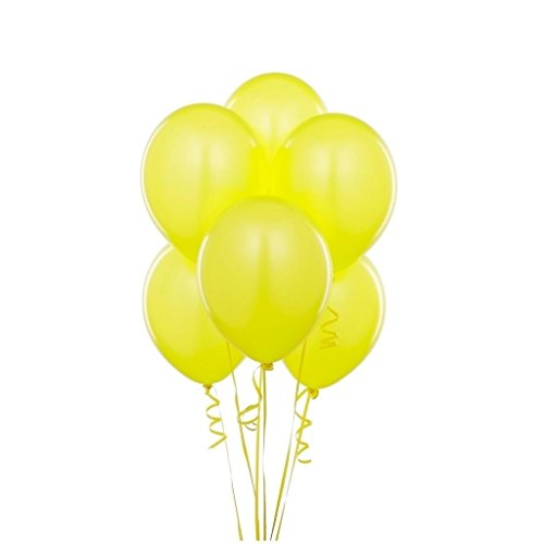 Kings deal (Tm) 12 Inches Ultra Thickness Latex Balloon 100 Count (Yellow)