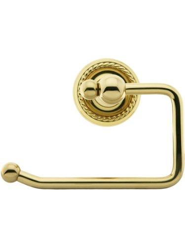 Emtek Rope Rosette (Brass Swinging Paper Holder With Rope Rosette In Polished Brass)