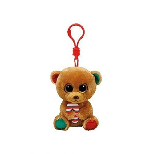 TY35203 Ty Beanie Boos Bella Brown Bear Keyring