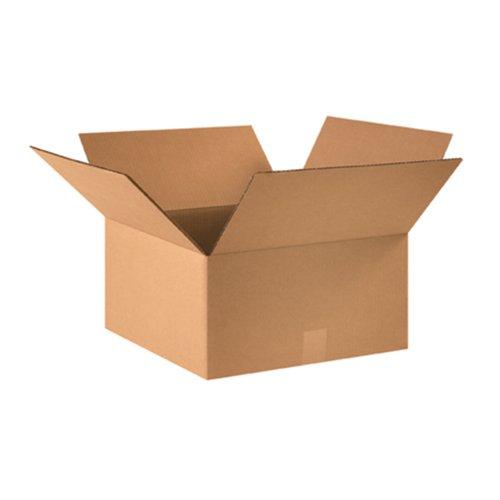 "Aviditi 16168 Corrugated Box, 16"" Length x 16"" Width x 8"" He"