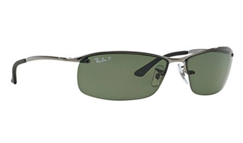 Ray-ban RB 3183 004/9A 63mm Polarized Gunmetal Sunglasses + SD Glasses + - Ban Ray 3183
