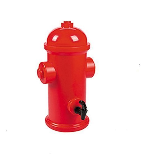 Plastic Fire Hydrant Drink Dispenser by Fun Express