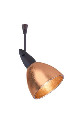 Besa Lighting SP-1758CF-LED6-BR 1X6W LED MR16 Divi Spotlight with Copper Foil Glass, Bronze Finish (Divi Foil Copper)