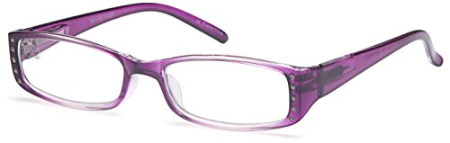 GAMMA RAY READERS Multiple Pairs of Shiny Bling Quality Spring Hinge Reading Glasses - With +1.00 Magnification