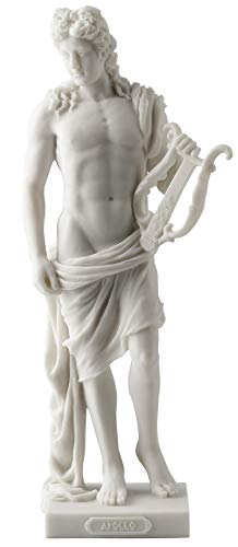 Apollo - Greek God of Light, Music and Poetry Statue White Finish (Greek God Sculpture)