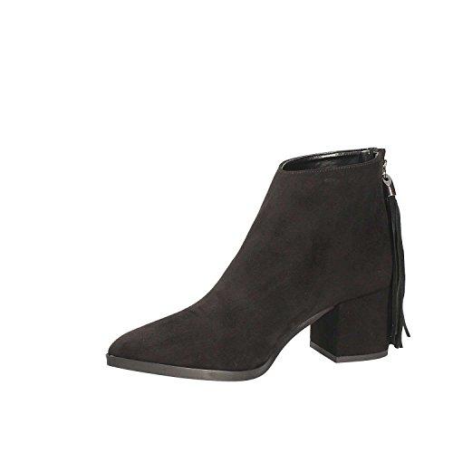 Grâce 0400 Chaussures De Chaussures De Femmes Bottines Noires 8PtwCFq