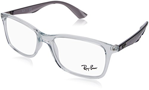 Ray-Ban RX7047 Rectangular Eyeglass Frames, Transparent/Demo Lens, 54 mm