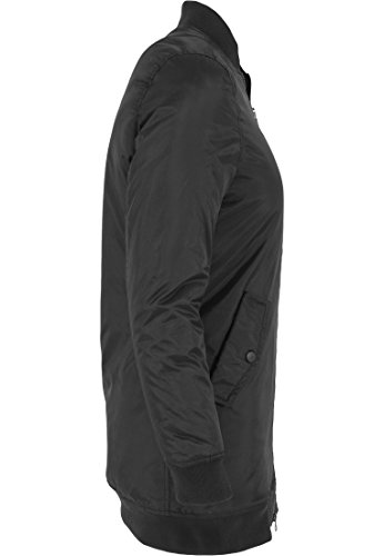 Urban Classics Jacke Long Bomber Jacket, Chaqueta para Mujer Negro (Schwarz)