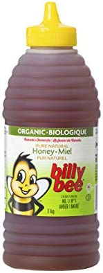 Billy Bee, Organic Pure Natural Honey, Liquid Amber, Squeeze, 1Kg