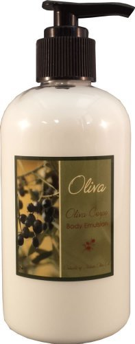 Baronessa Cali Oliva Green Corpo Body Emulsion Moisturizer with Italian Olive Oil Extracts - Replenishes and Revitalizes Skin - 8.5 Ounce