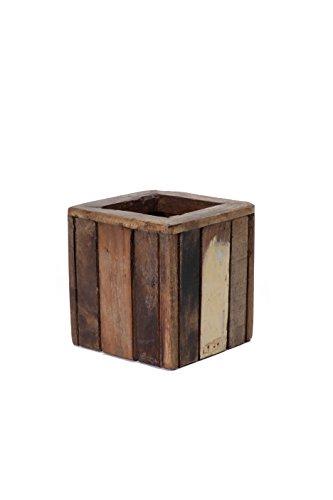 Reclaimed Wooden Pencil Holder - Wooden Pen Holder - Office Decor - 100% Reclaimed Wood - Wooden Office Supply Holder - Desk Organizer - Wooden Box - Crate Style Box - Small Pen Holder