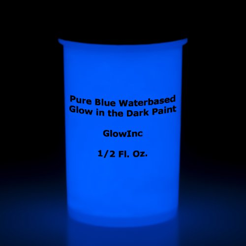 Pure Blue Glow in the dark Paint 2Fluid Ounces