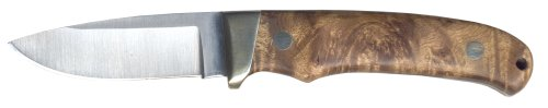 Schrade PH2W Desert Iron Wood Handle, Nickel Bolster Fixed Blade with Sheath, Outdoor Stuffs