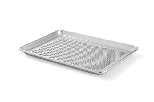 Artisan Professional Perforated Aluminum Baking Sheet Pan with Lip, 18 x 13-inch Half Sheet