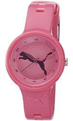 Puma Slick Black Big Cat Pink Dial Pink Silicone Ladies Watch PU910682013