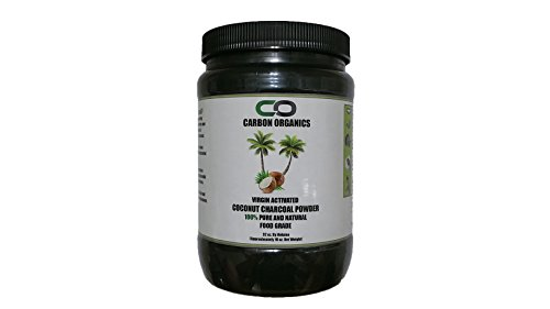 Activated Coconut Charcoal Powder - Food Grade - Used for Teeth Whitening, Detoxification, Beauty Masks / Scrubs, Etc. - 100% All Natural - Vegan by Carbon Organics