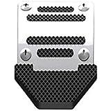 SUNNY バイク用ブレーキペダルカバー アルミ 軽量 お洒落 ドレスアップ メタリック 簡単取り付け バイク用アルミペダルカバー 汎用タイプ バイクブレーキカバー (シルバー)