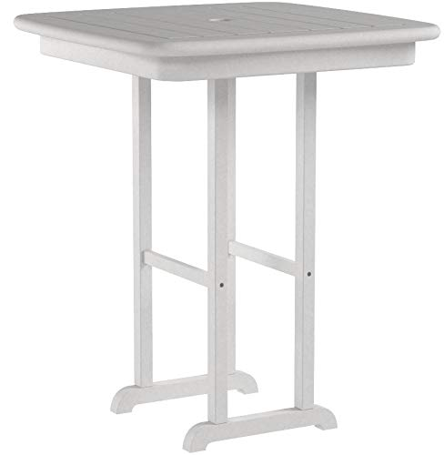 POLYWOOD NCRT31WH Counter Table, White ()