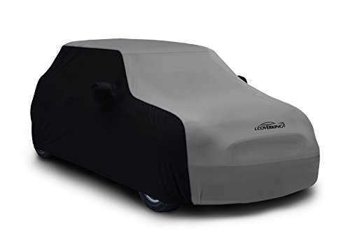Coverking Custom Car Cover for Select Ford Mustang Models - Satin Stretch (Gray with Black Sides) ()