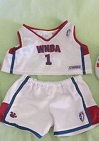Build a Bear Clothing Red White Mesh Women Wnba NBA 1 Shorts and Shirt (Build A Bear Frozen Elsa)