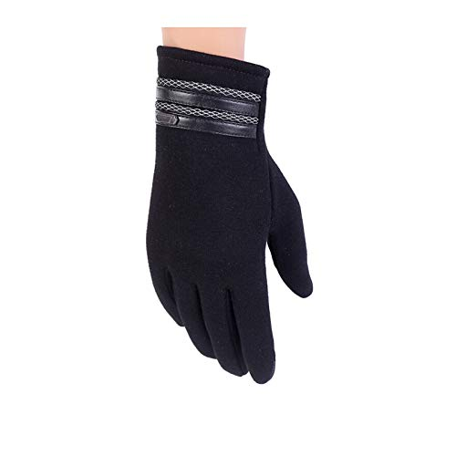 MoAndy Gloves for Men Cold Weather Warm Winter Gloves Gloves Outdoor Waterproof & Windproof Snow Gloves Touch Screen Gloves Black One Size