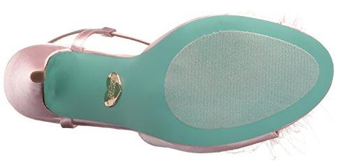 Blue by Betsey Johnson Women's Sb-Kay Heeled Sandal Blush Satin x0zOgh8