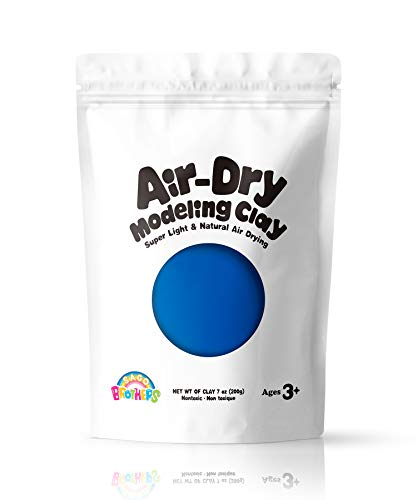 Sago Brothers Air Dry Clay, Modeling Clay for Kids, Molding Magic Clay for Slime add ins & Slime Supplies, Kids Gifts Art Set for Boys Girls - Blue