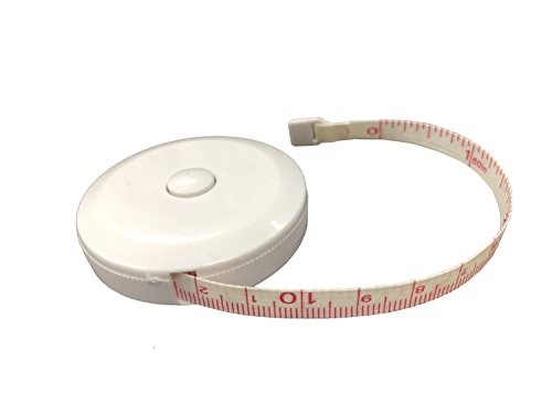 Soft round retractable dual sided tape measure slimming-OPOUTIL sewing tailor cloth ruler White 60 Inch/150cm (4/Pack)