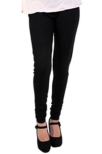 Chudidar Kurta Dress - Anekaant Women's Cotton Lycra's Chudidar Free Size Black