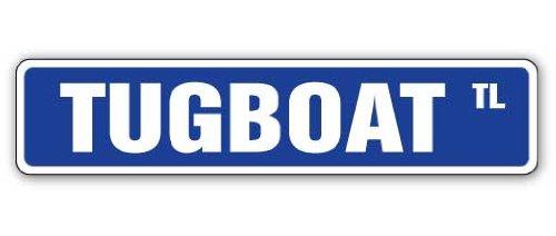 Cart Boat C-tug - Tugboat Street Sign Decal Vessel Captain Tug Boat Deckhand | Indoor/Outdoor | 9