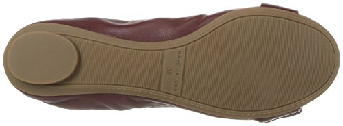 Marc Jacobs Womens Dolly Gesp Ballerina Ballet Plat Bordeaux