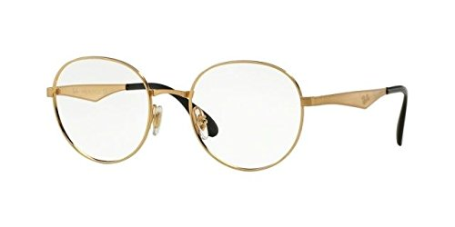 Ray-Ban RX6343 Eyeglasses Gold - Raybans Gold