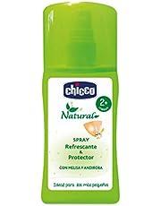 Chicco Protección Natural - Loción en Spray Bebés de ingredientes naturales que refresca y protege también frente a mosquitos - 100 ml